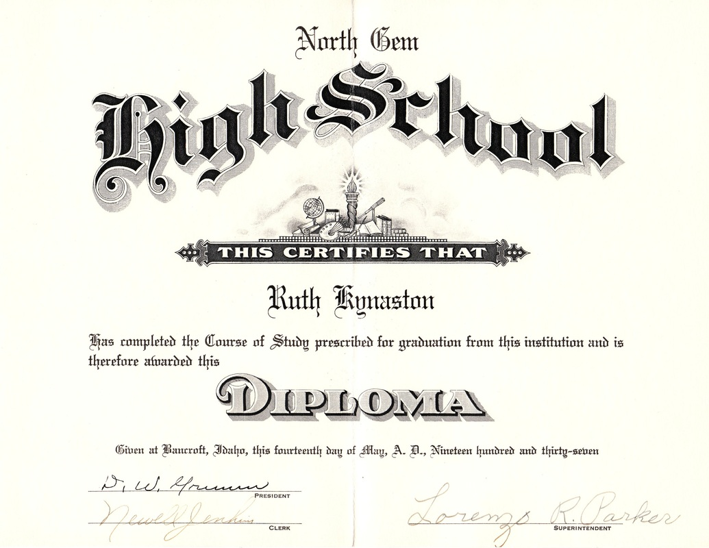 Ruth Kynaston High School Diploma